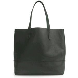 J. Crew Black Leather Downing Tote